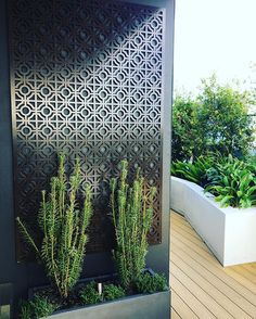 Our very own Hari Screen - designed and made in Sydney. #Available from our studio in many sizes. This one hanging at our Rozelle rooftop garden installed by @gardensociety - powdercoated in bronze. #ARD #adamrobinsondesign #getoutside #rooftopgarden #gardenart