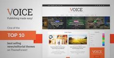 Download and review of Voice - Clean News/Magazine WordPress Theme, one of the best Themeforest Magazine & Blogs themes