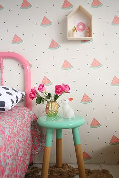 I don't care how old I am. I want this: polka dots + watermelon = AWESOME