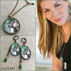 Ensemble Exuma Bronze, Jewelery, Pendant Necklace, Bracelets, Boucle D'oreille, Necklaces, Locs, Jewerly, Jewlery