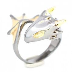 Get On My Finger, Tiny Dragon Ring (as posted to Fashionably Geek)