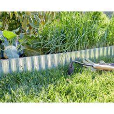 /® casa.pro Bordure pour Jardin Bordure pour Pelouse Palissade Acier Galvanis/é Barri/ère 10 m Kit de 10