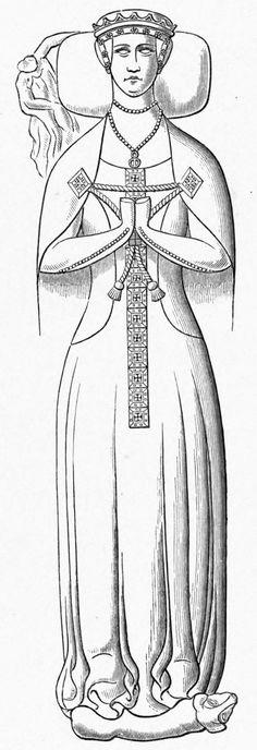 Effigy of Muriel Dinham, England 1380