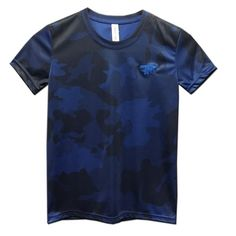 Youth Trident Royal Camo Laser Performance Short-Sleeve