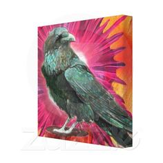 Divine Raven Gallery Wrapped Canvas.    Select the image for a larger view and a direct link to my store.  Thank you!