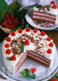 Receptek Lajos Mari konyhájából - Csokoládés málnatorta