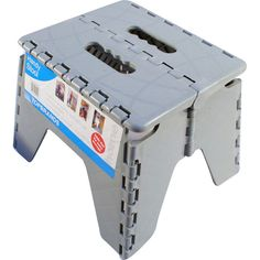 Grey New Plastic Multi Purpose Folding Step Stool Home Kitchen Easy Storage Uk