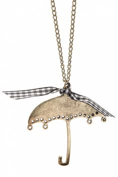 From Paris with Love! - Umbrellalala! Vintage Gold necklace