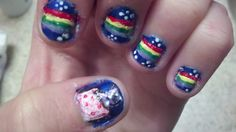 Nyan Cat Nails I did >.