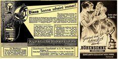 24 x Original-Anzeigen 1928-1965 - HANAU HÖHENSONNE / QUARZLAMPEN GESELLSCHAFT   eBay