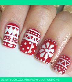 CHRISTMAS Sweater #nail #nails #nailart