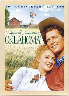 Original vintage poster from the 1955 movie musical, Oklahoma!