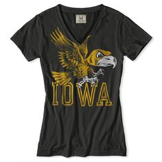 I own it!  Iowa Hawkeyes V-Neck T-Shirt