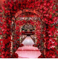 Wedding Prep, Wedding Stage, Outside Wedding, Wedding Themes, Wedding Designs, Wedding Venues, Dream Wedding, Red Wedding Decorations, Red Wedding Flowers