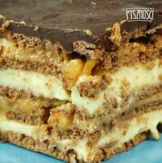 Polish Desserts, No Bake Desserts, Chicken And Leek Pie, Cake Recipes, Dessert Recipes, Cookies And Cream Cake, Something Sweet, Cakes And More, Food To Make