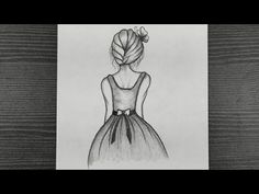 How To Draw A Girl Back Side || Beautiful Girl Drawing Step By Step || Pencil Drawing Easy - YouTube Creepy Sketches, Art Drawings Sketches, Easy Drawings, Pencil Drawings, Dress Drawing Easy, Step By Step Drawing, Beautiful Girl Drawing, Fashion Drawing Dresses, Girl Back
