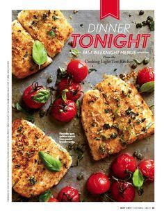 Crispy Flounder & Roasted Tomatoes - photo: Mary Britton Senseney for Cooking Light magazine (May 2012)