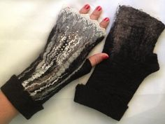 Custom order only takes two days Fingerless gloves by Tatiana123