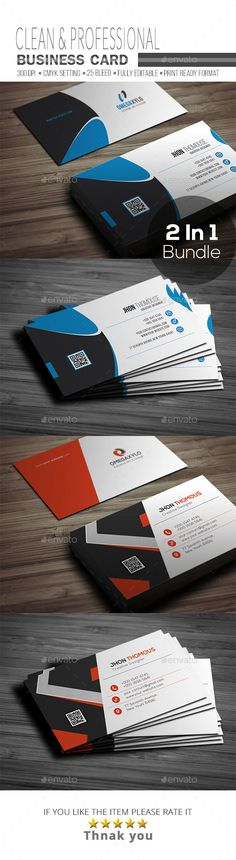 Business Card Bundle 2 In 1 by OMEGAXYLO Detail Fully Layered PSD files Easy to customizeable