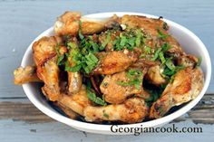 Lime Mint Chicken Wings