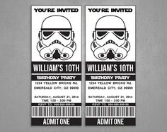 Star Wars birthday Stormtrooper invitation Party Printable - Instant Download Editable PDF