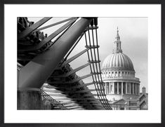 Millennium Bridge spectators by St. Paul's Art Print by Niki Gorick | King & McGaw