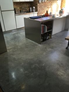 Basement Flooring Option Over Uneven Concrete - HomyBuzz Finished Concrete Floors, Polished Concrete Flooring, Painted Concrete Floors, Cement Walls, Stained Concrete, Basement Flooring Options, Best Flooring, Kitchen Flooring, Screed Floors