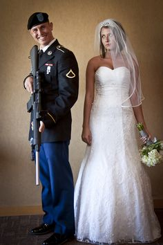 Haha! @Dalisha Kay, you should have this picture taken at your wedding (without the uniform obviously).