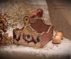"""Короб """" Петушки"""" для хлеба, пирожков, лука, яиц – купить в интернет-магазине на Ярмарке Мастеров с доставкой"""
