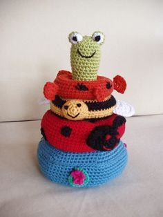 Ravelry: Project Gallery for Pond Friends Stacking Toy pattern by Lion Brand Yarn