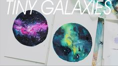 Painting tiny nebulae and galaxies and with water colors and acrylic paint. Could also use salt to make stars.