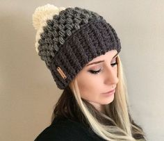 SALE Pattern Fitted Puff Stitch Beanie PDF FILE by ShopABCrochet