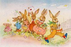 Charlotte Baron Vintage Postcards, Spring Time, Photo Wall Art, Holiday Cards, Pikachu, Barbie, Illustration, Charlotte, Painting