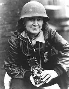 Margaret Bourke-White with Rolleiflex one of my idols..hoping to follow in her footsteps!..