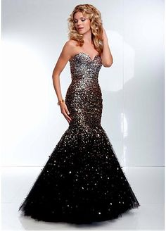 Stunning Tulle Sweetheart Neckline Floor-length Mermaid Prom Dress