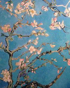 sustayn: Van gogh the ultimate collection in. Van Gogh Almond Blossom, Cherry Blossom Art, Art And Illustration, Illustrations, Van Gogh Flowers, Van Gogh Arte, Post Impressionism, Vincent Van Gogh, Mosaic Art