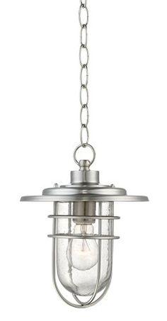 "Stratus Collection 10 1/2"" High Nickel Outdoor Hanging Light John Timberland http://www.amazon.com/dp/B00BP9B5W2/ref=cm_sw_r_pi_dp_KSdjwb1ARYE75"