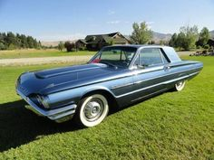 1964 FORD T-BIRD (MT) - $19,000 Low miles under rebuild.  Blue exterior paint with Blue vinyl interior. 390 Rebuilt Engine & Automatic Transmission, 300 HP.  AC, Heat, New whitewall tires, Radio n
