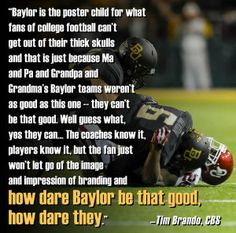 How dare #Baylor football be that good. #SicEm