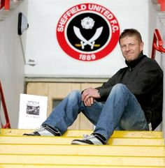 Sean Bean - Sheffield United  This is pure awesomeness :) Another famous sheffielder,  and he's a blade!!  Born and lived in the next village to me...