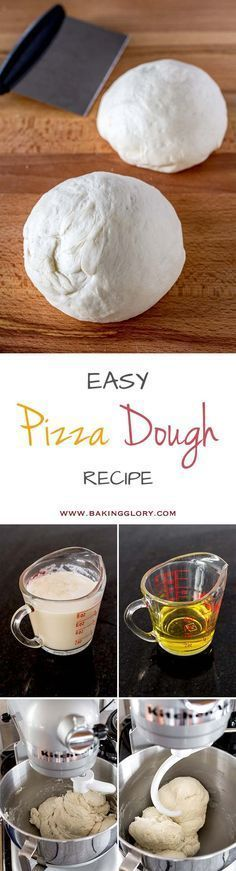 Free yourself from pizza delivery and start making your own, by using this easy pizza dough recipe. Cannot get any easier than this.