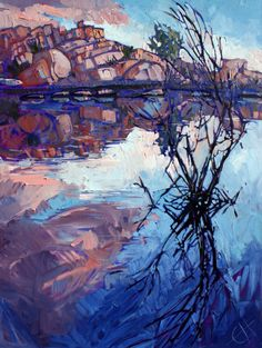 Barker Dam Oil Painting by Erin Hanson