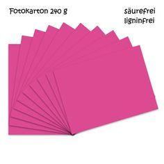 Fotokarton fuchsia A4 - 10 Bogen - 240g