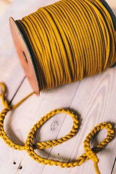 6 mm polyester cord with inner rope. Macrame Supplies, Colored Rope, Beige Aesthetic, Macrame Cord, Chunky Yarn, Yarn Colors, Craft Supplies, Diy Crafts, How To Make