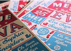 Letterpress Winkel   Geboortekaart  www.letterpresswinkel.nl