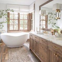 BATH - bathroom interior design and decor inspiration A Cozy and Chic Rustic Retreat modern bathroom Bad Inspiration, Bathroom Inspiration, Bathroom Ideas, Bathroom Organization, Bath Ideas, Bathroom Layout, Bathroom Vanities, Kohler Bathroom, Bathroom Tubs