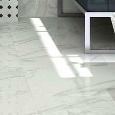 Pavia Marble Effect Grey Gloss Porcelain Floor Tiles - 60 x Bathroom Floor Tiles, Wall And Floor Tiles, Inexpensive Flooring, White Wall Tiles, Vitrified Tiles, Granite Flooring, Tiles Texture, Marble Effect, Color Tile