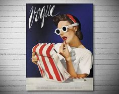 Vogue Cover July 1 1939 Poster  Poster Paper Sticker by WallArty