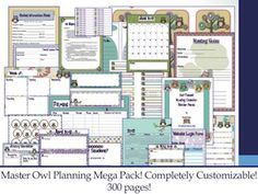 Owl Themed Master Planning Pack and K-5 Common Core Lesson Planning Packs  http://pinterest.com/theocblog/owl-themes/