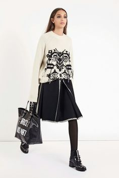 Red Valentino fall 2018; love the sweater and skirt